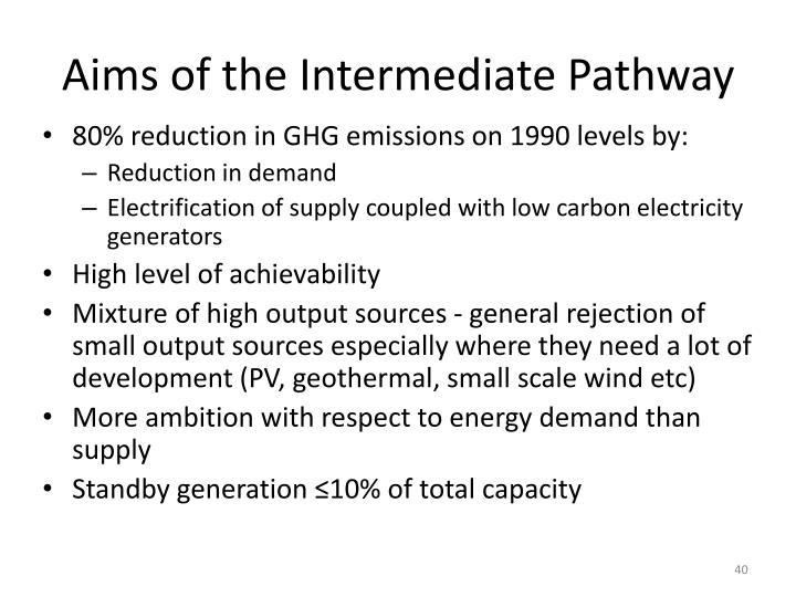 Aims of the Intermediate Pathway