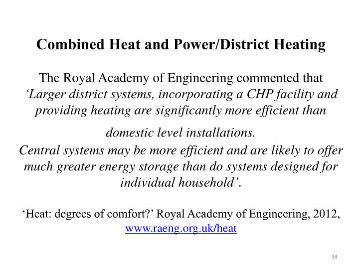 Combined Heat and Power/District Heating