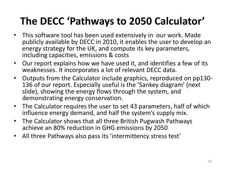 The DECC 'Pathways