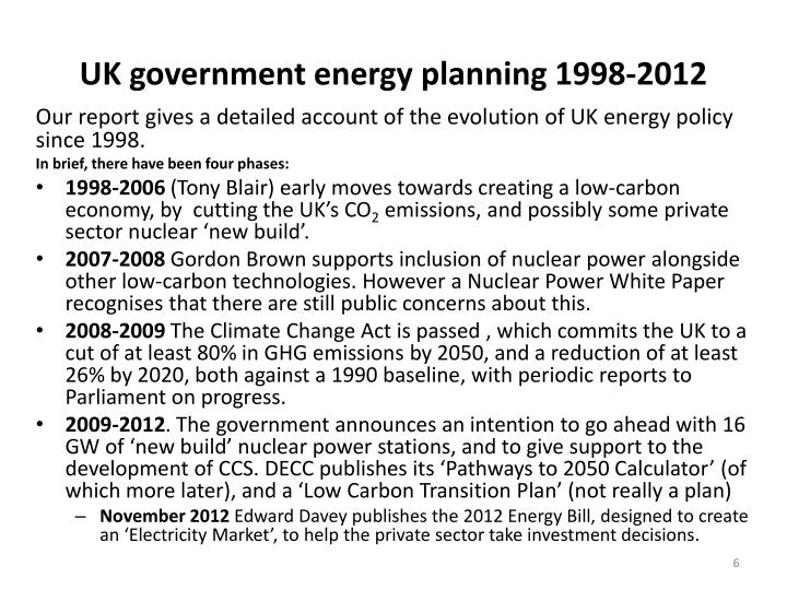 UK government energy