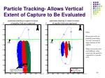 particle tracking allows vertical extent of capture to be evaluated