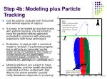 step 4b modeling plus particle tracking