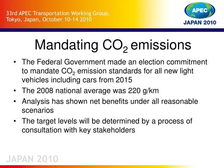 Mandating co 2 emissions