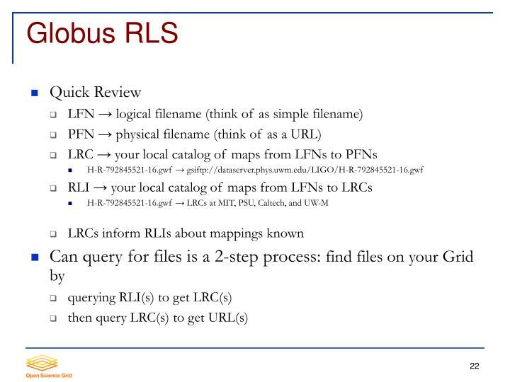 Globus RLS