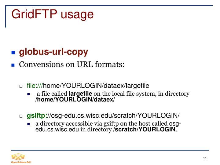 GridFTP usage