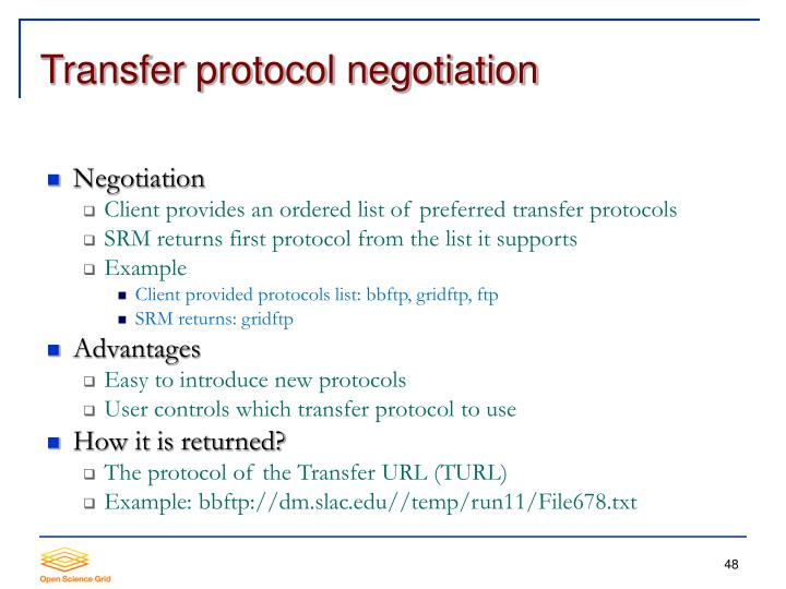 Transfer protocol negotiation