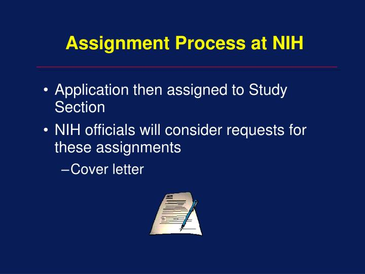 Assignment Process at NIH