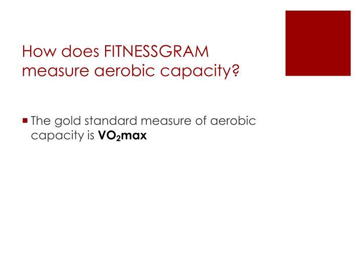 How does FITNESSGRAM measure aerobic capacity?