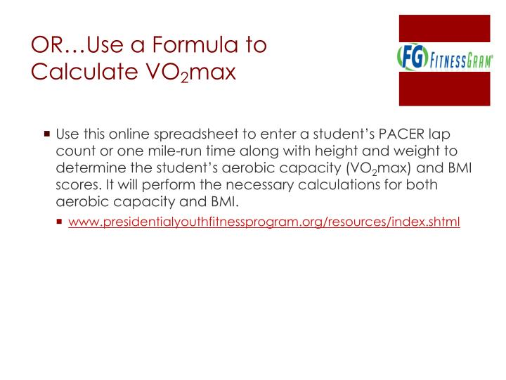 OR…Use a Formula to Calculate VO