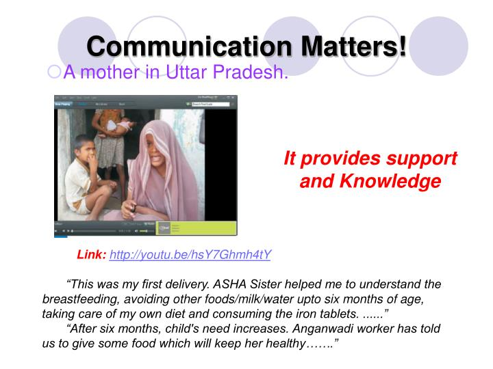 Communication Matters!
