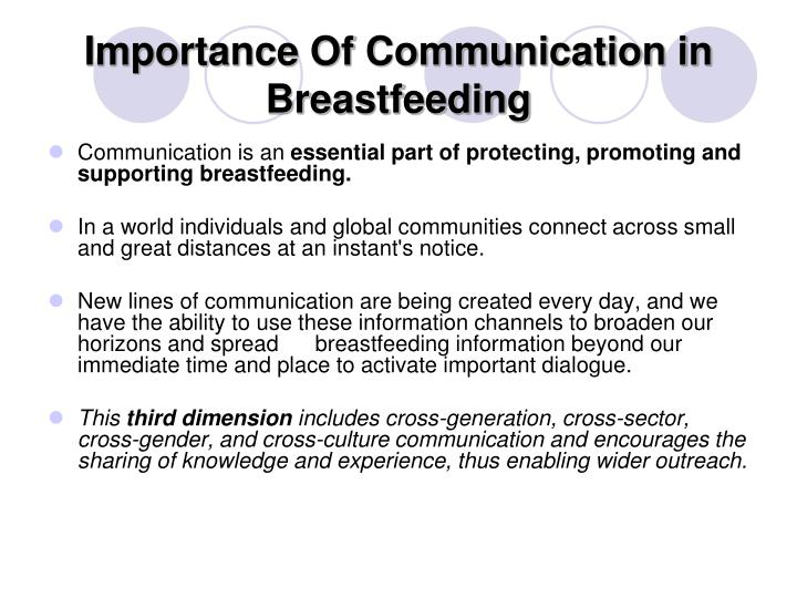 Importance Of Communication in Breastfeeding