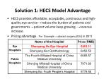 solution 1 hecs model advantage