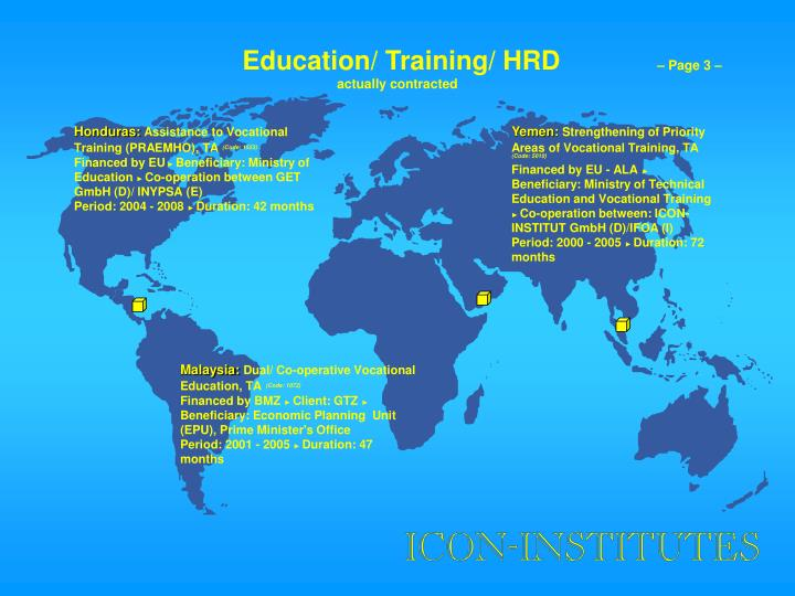 Education/ Training/ HRD
