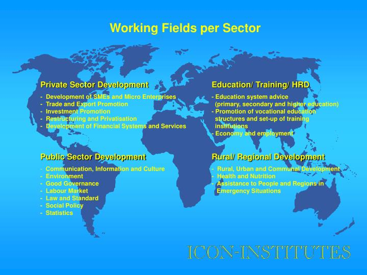 Working Fields per Sector