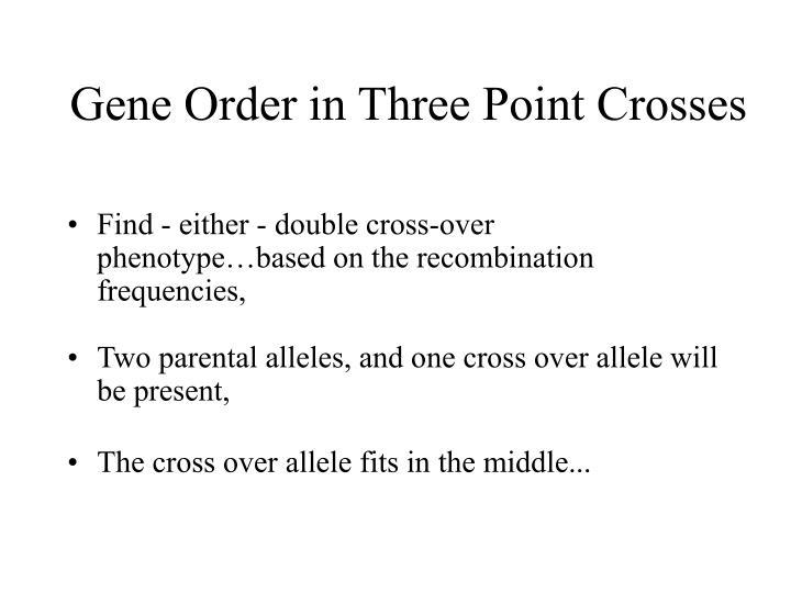 Gene Order in Three Point Crosses