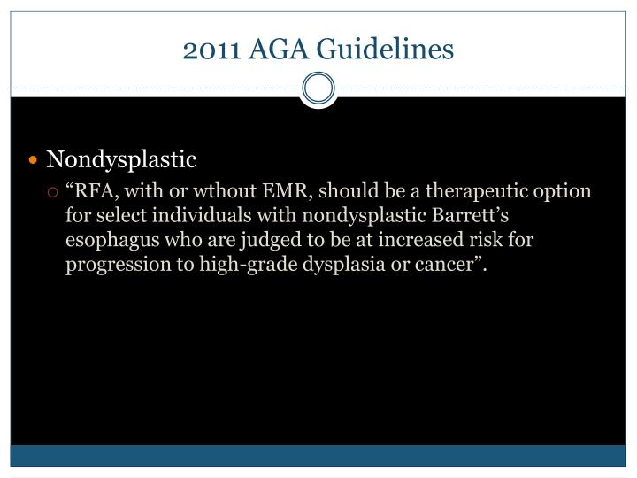 2011 AGA Guidelines