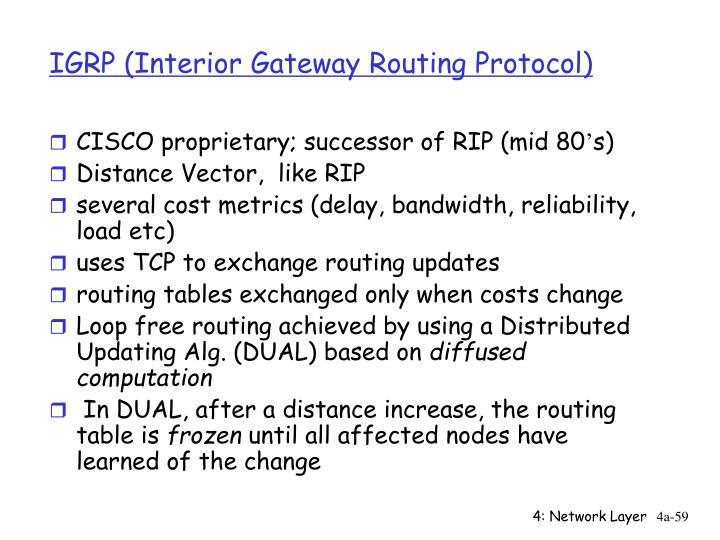 IGRP (Interior Gateway Routing Protocol)