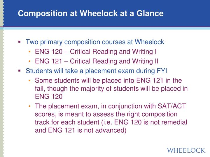 Composition at Wheelock at a Glance
