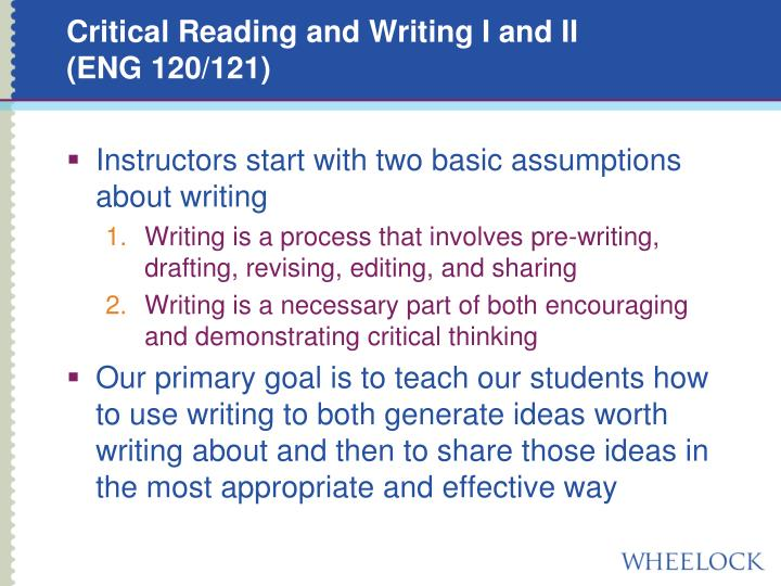 Critical Reading and Writing I and II