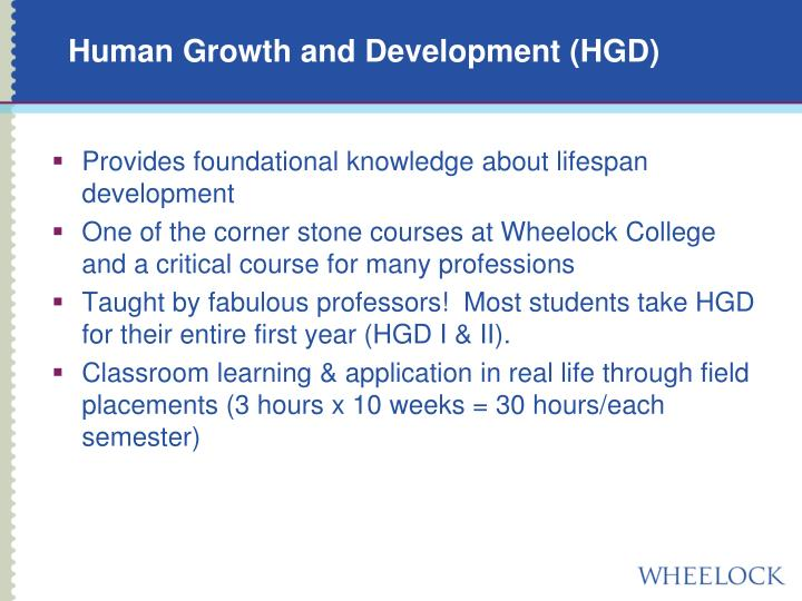 Human Growth and Development (HGD)