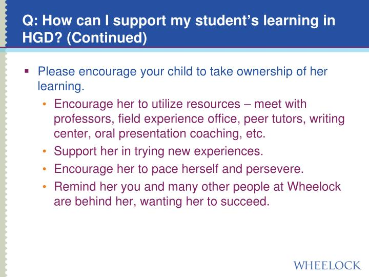 Q: How can I support my student