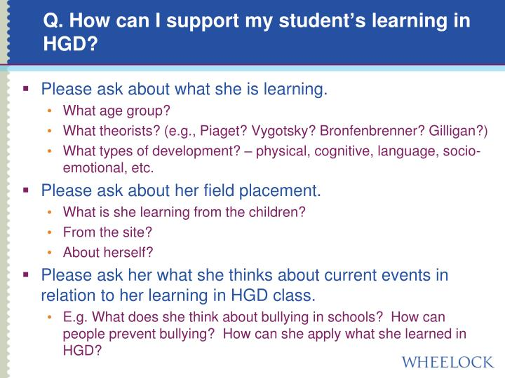 Q. How can I support my student