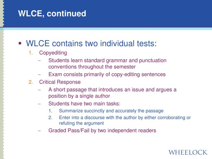 WLCE, continued