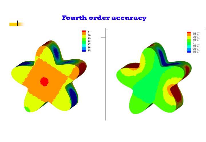 Fourth order accuracy