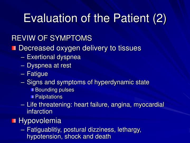 Evaluation of the Patient (2)