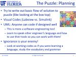 the puzzle planning