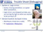 trouble shoot debugging