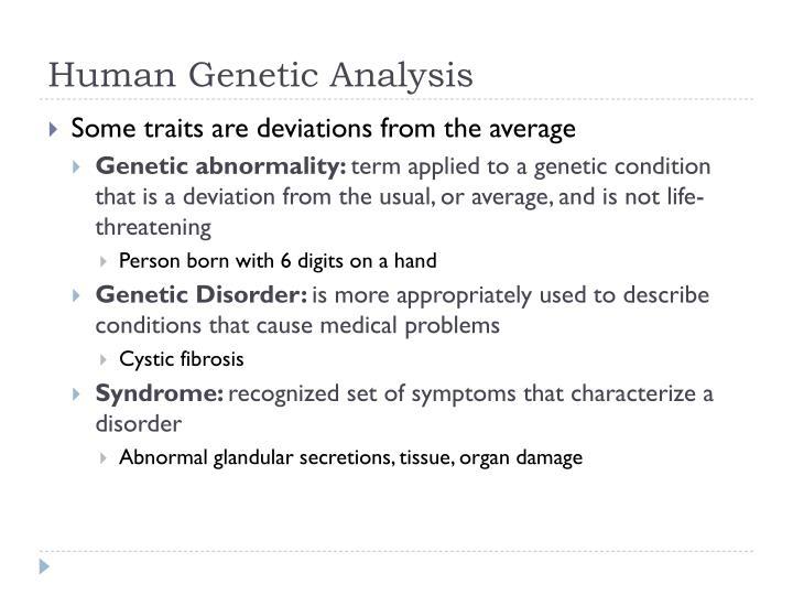 Human Genetic Analysis