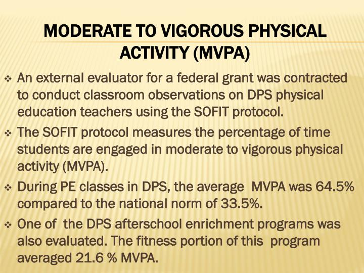An external evaluator for a federal grant was contracted to conduct classroom observations on DPS physical education teachers using the SOFIT protocol.