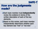 how are the judgments made1