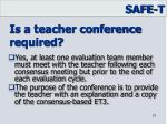 is a teacher conference required