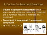 4 double replacement reactions