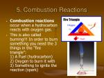 5 combustion reactions