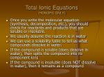 total ionic equations honors only