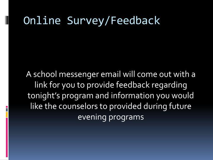Online Survey/Feedback