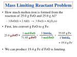 mass limiting reactant problem