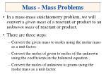 mass mass problems