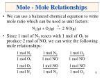 mole mole relationships