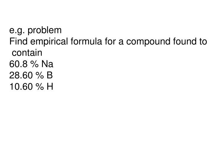 e.g. problem