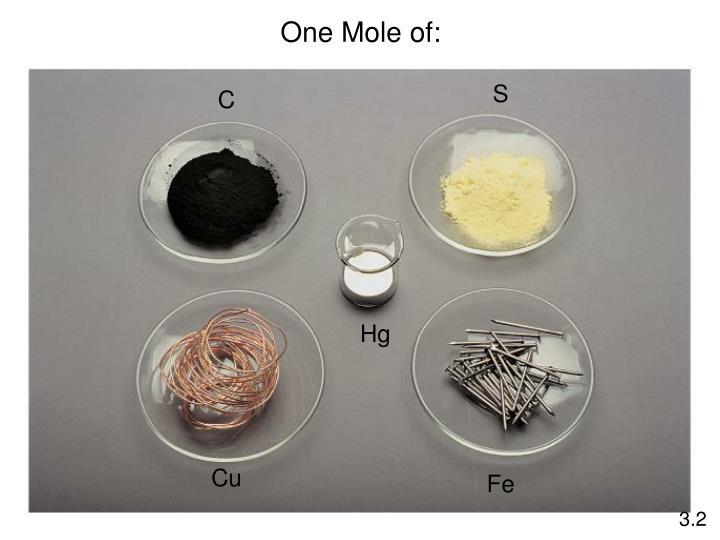 One Mole of: