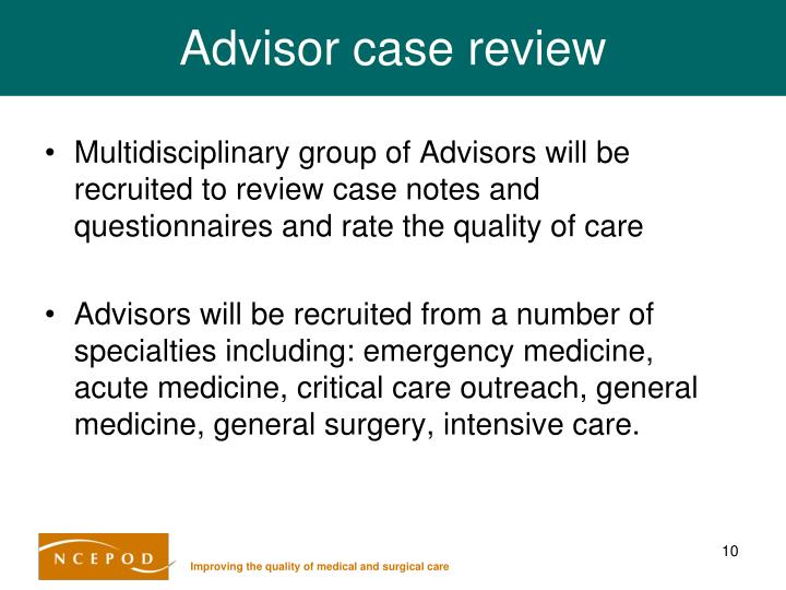 Advisor case review