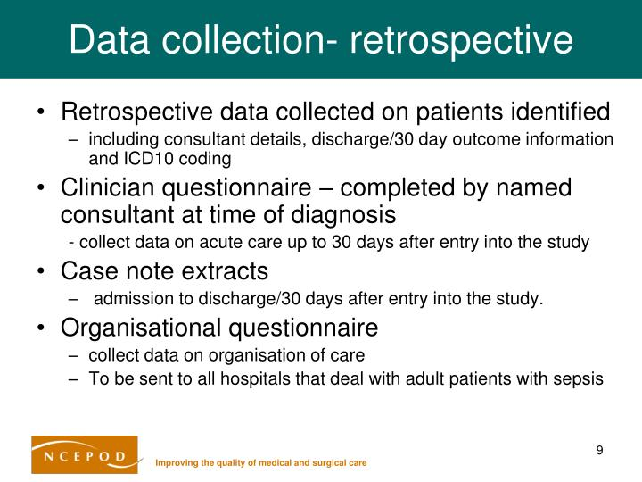 Data collection- retrospective