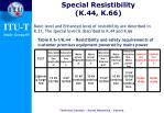 special resistibility k 44 k 66