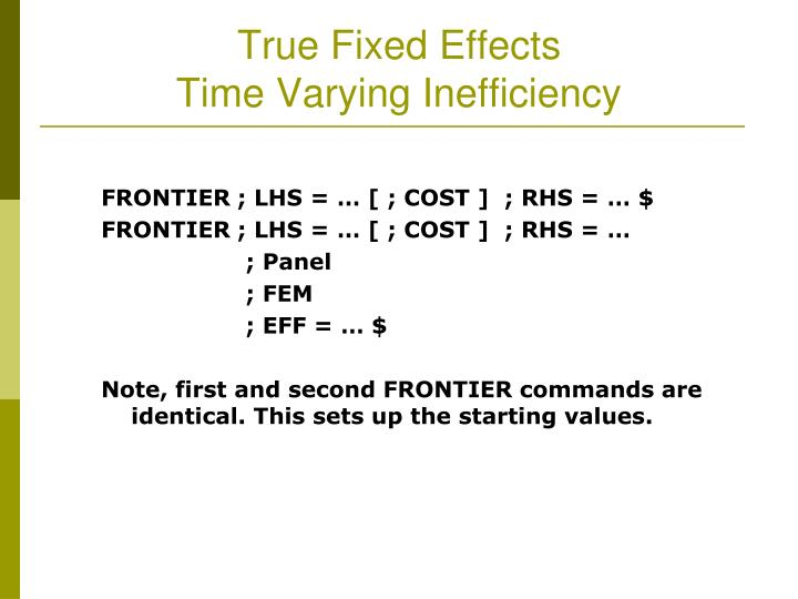 True Fixed Effects