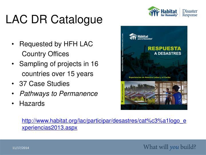 LAC DR Catalogue