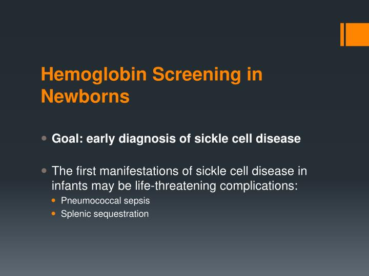 Hemoglobin Screening in Newborns